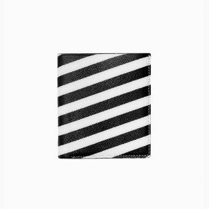 Want Les Essentiels de la Vie:Bradley Bi-fold Wallet (diagonal stripe black)