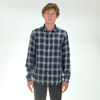 Officine Generale: Lipp Shirt Multi Check (black/white)