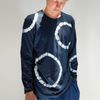 Blue Blue Japan (man): Circle Tie Dye Long Sleeve  (blue)