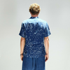 Blue Blue Japan (man): Sakuru Fubuki SS Shirt  (blue)