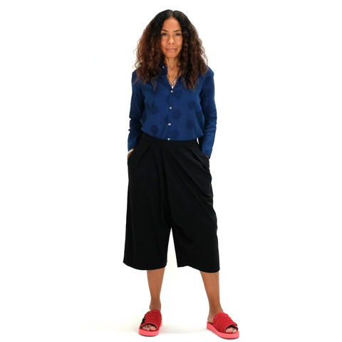 Blue Blue Japan (woman): Pima Smooth Culotes (black)