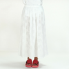 Blue Blue Japan (woman): Circle Embroidery Slit Skirt (white)