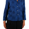 Blue Blue Japan (woman): Embroidery Oriental Tuck Shirt (indigo)