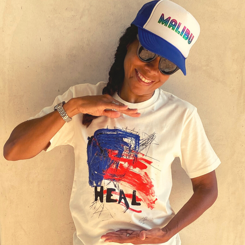 DLK 'HEAL' TEE: *LTD EDITION CHARITY TEE (natural)