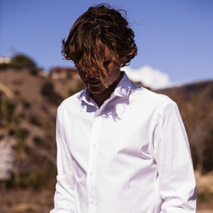 Canvas . Malibu: Micro Wide Collar Button Down (white)