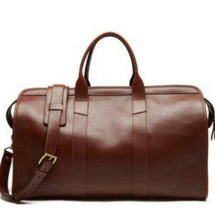 Leather Duffle Travel Bag (brown)