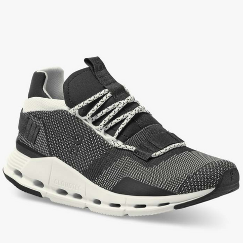 On Running (woman): Cloudnova (black/white)