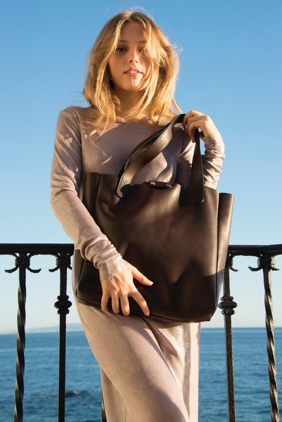 Ben Hogestyn: Leather Tote (brown)