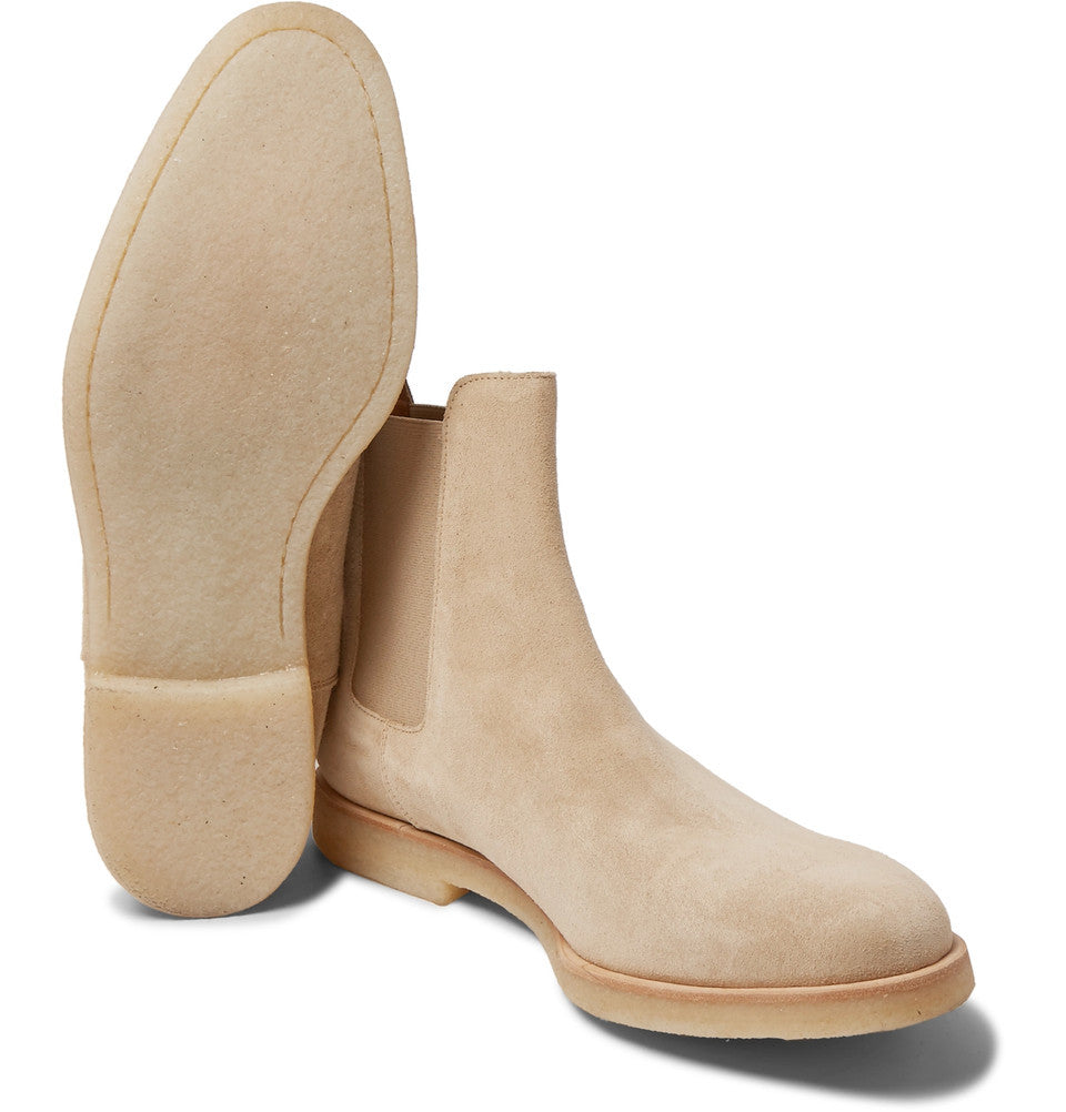 Common Projects Suede Chelsea Boots Taupe