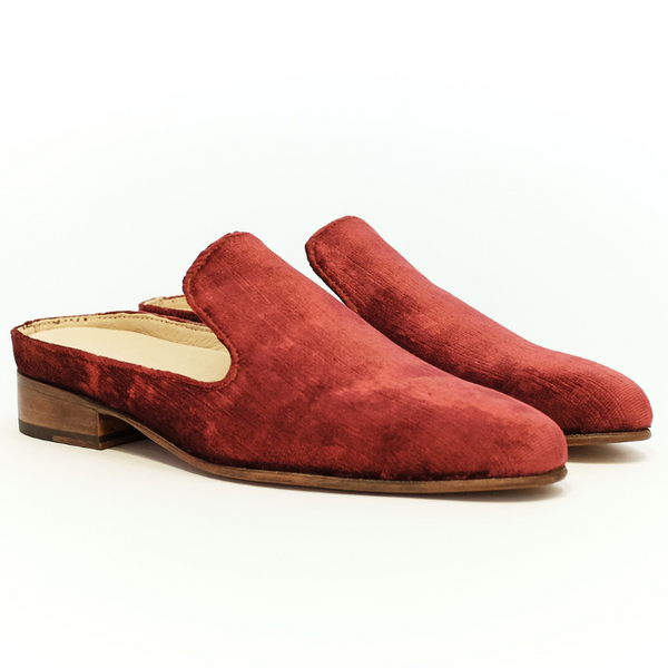 Esquivel (woman): Velvet Slipper (burgundy)