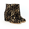 Esquivel (woman): Gold Metallic Floral Embroidery Side Zip Boot (black)