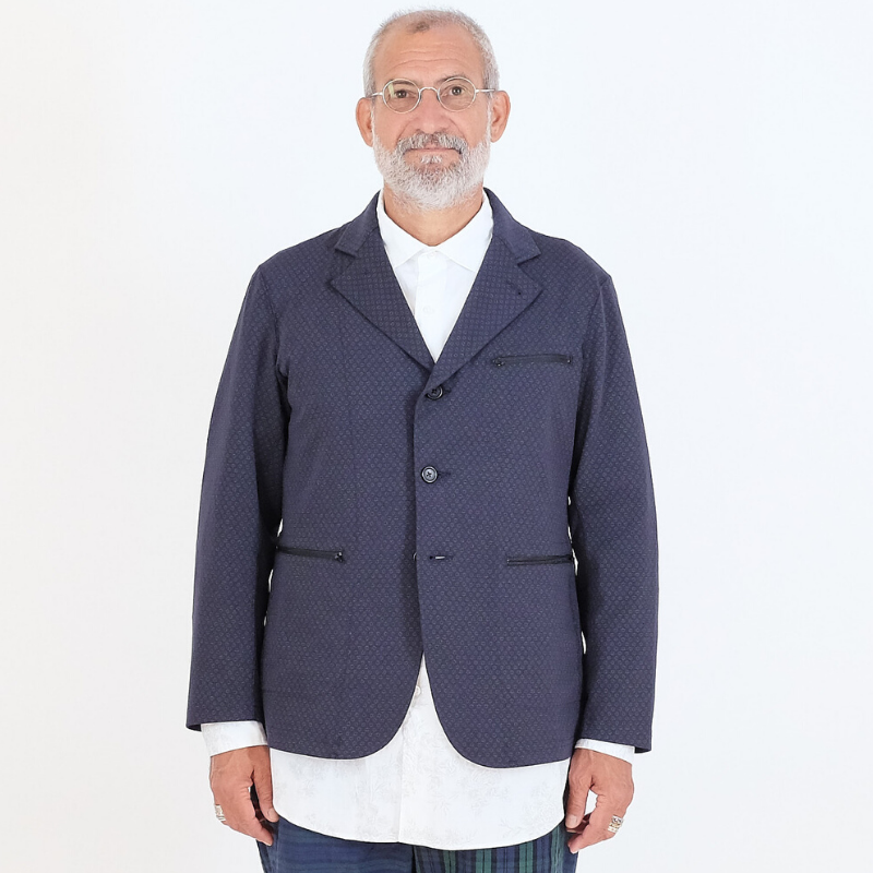 Engineered Garments: Leisure Jacket Foulard Jersey (dk. navy)