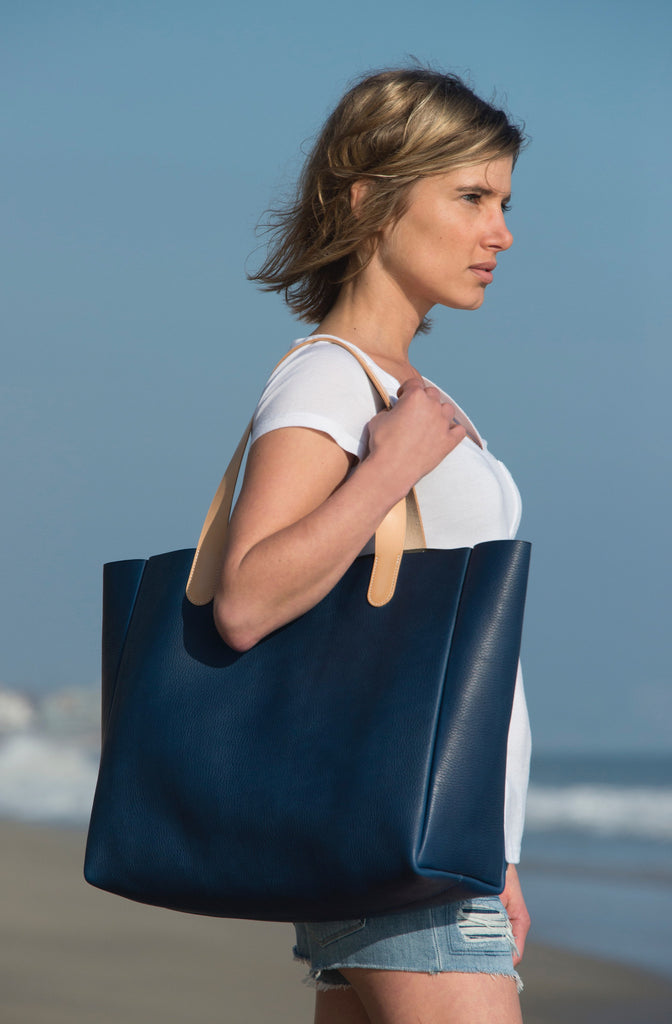 Ben Hogestyn: Large Tote (blue) SOLD
