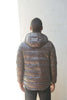Remi Relief: Full Zip Inner Down Jacket (Taupe/Brown)