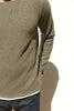 Remi Relief: Wool Plain Stitch Layered Crew (Brown)