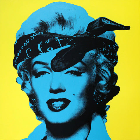 My Marilyn Portrait #2 (Blue and Yellow)