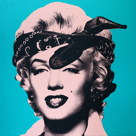 My Marilyn Portrait #1 (Tone and Blue Green)