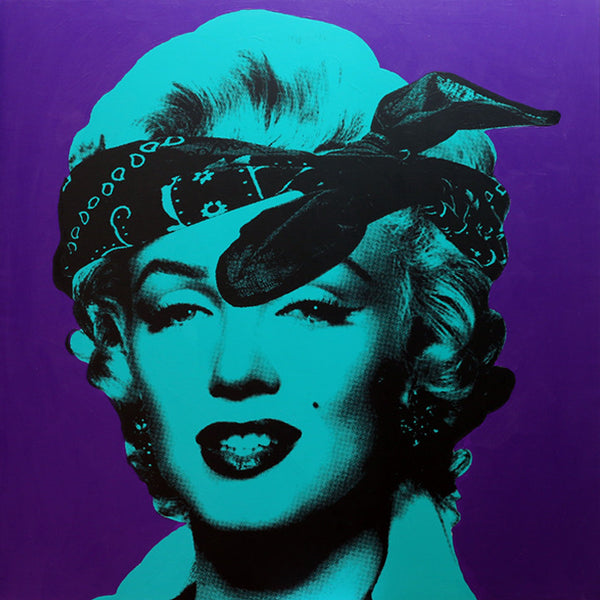 My Marilyn Portrait #4 (Turquoise and Purple)