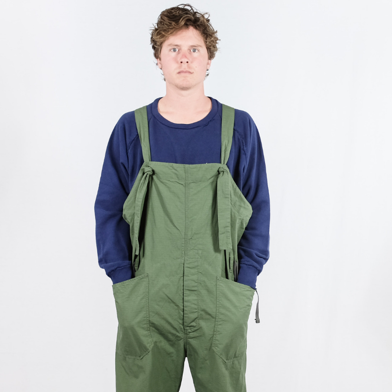 Engineered Garments: Ripstop Overalls (olive)