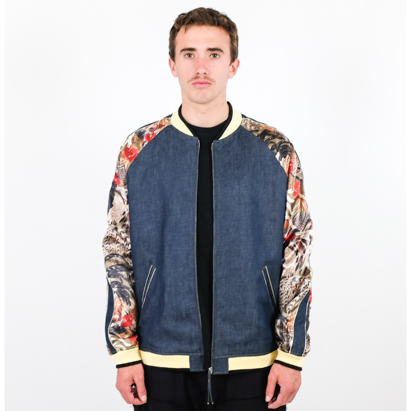 N. Hoolywood: Satin denim Jacket (blue)