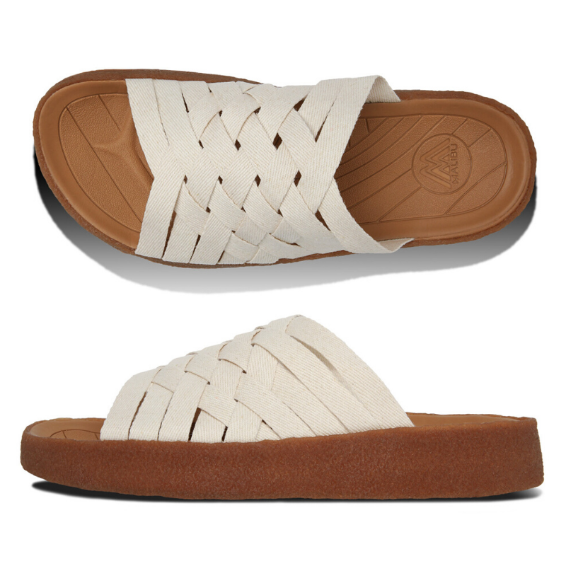 Malibu Sandals: Men's Zuma Hemp/Crepe Natural/Tan