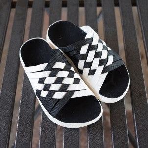 Malibu Sandals:  Zuma Fast Times (black/white)