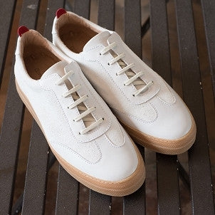 Oliver Spencer: Upper St. Trainer (cream suede)