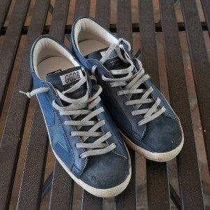 Golden Goose: Super Star (denim blue star)