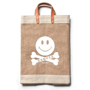 "Canvas Malibu: ""bu-happy"" Market Bag"