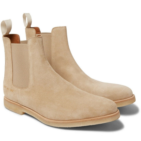 Common Projects: Suede Chelsea Boots (Taupe)