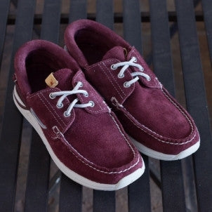 Visvim: Hockney Folk (burgundy suede)