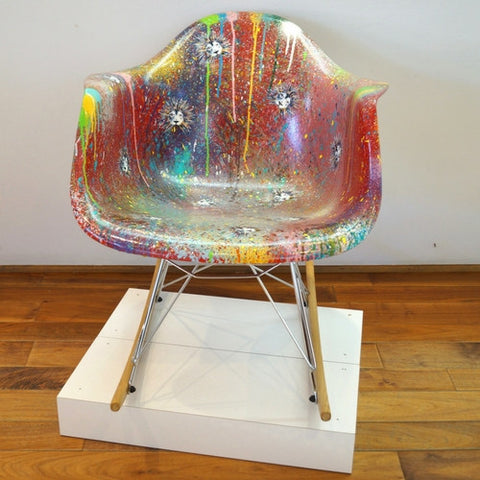 "Rocker Chair  ""I just want to make art! (ready-made)"""