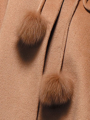 Cashmere Cape with Fox Collar