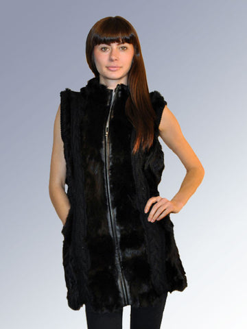 Knitted Rex & Wool Long Vest