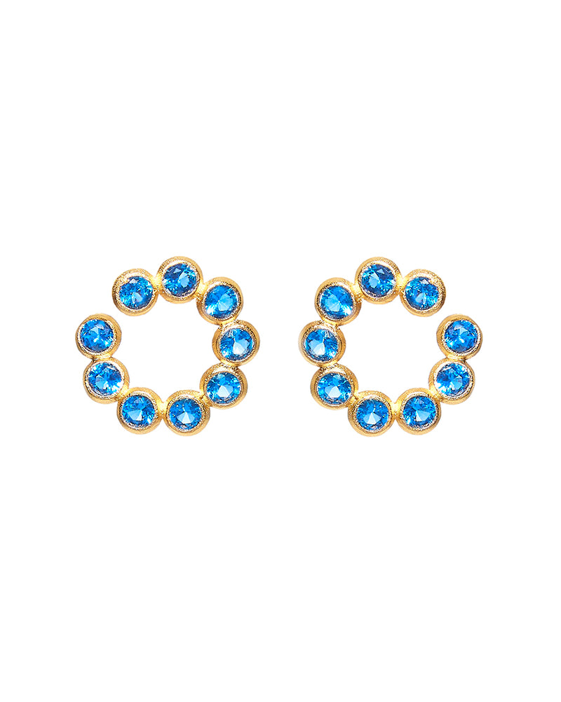 Blue Circles Earring