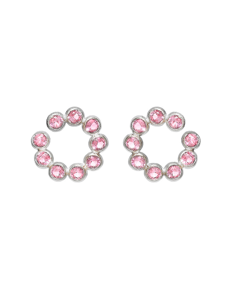 Pink Circles Earring