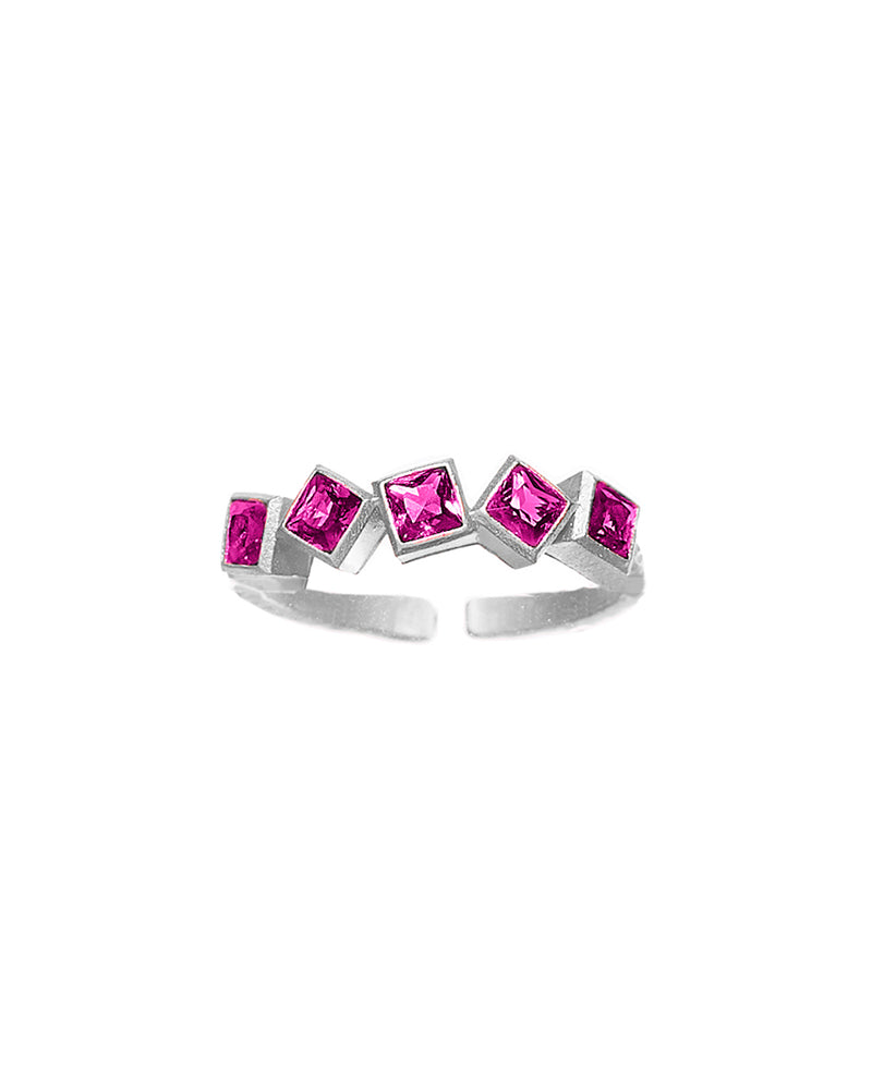 Fucsia Block Ring