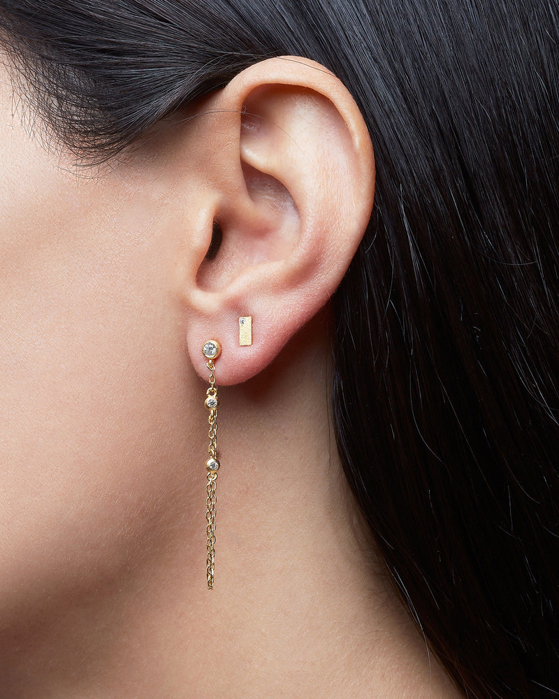 Single Front to Back Chain Earring