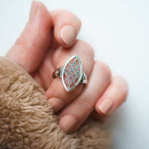 She's a Badass Ring | Ruth Bader Ginsburg Lace Jewelry
