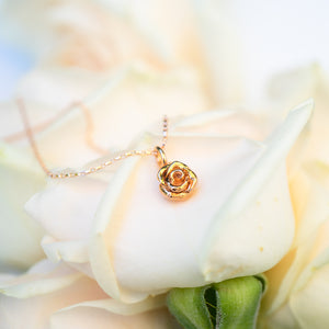Single Rose Flower Necklace