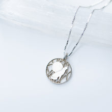 Load image into Gallery viewer, Wolf and Moon Necklace