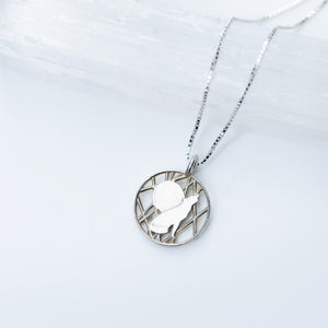 Wolf and Moon Necklace