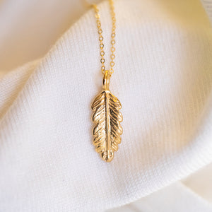 Environmentalist Leaf Necklace
