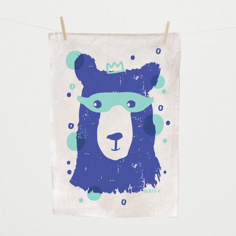 Tea Towel, Boris II,  hand silk screened
