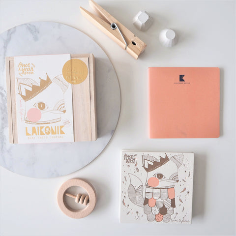 Baby Keepsake Book - Fox Blush