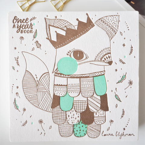 Baby Keepsake Book - Fox Mint