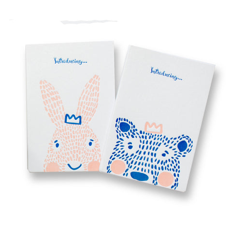 Birth Announcement, Mini Album - Bear and Bunny
