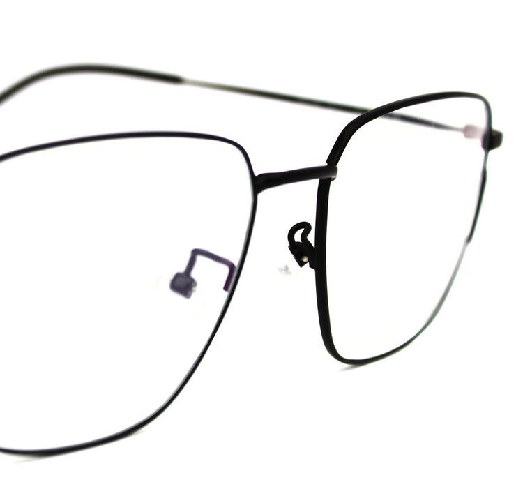 Lentes Blue blocking rectangulares negros Black Musk - Blinders Online Store