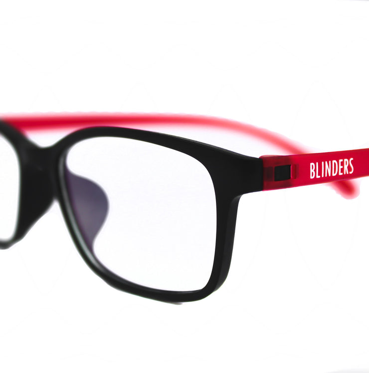 Lentes Blue Blocking rojos con negro Red Black Toulouse - Blinders Online Store