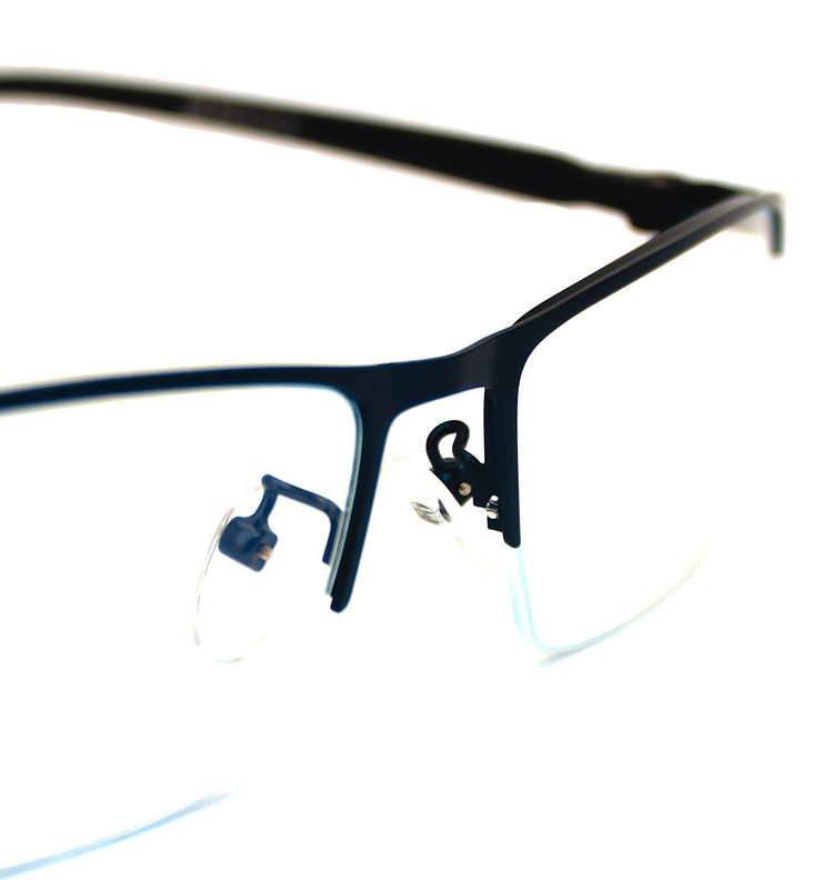Lentes blue blocking rectangulares azules Blue Navy Buffett - Blinders Online Store